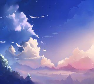 Обои на телефон облака, небо, жизнь, ветер, аниме, air