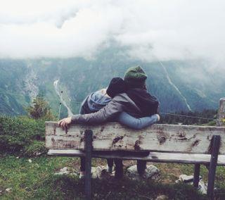Обои на телефон пара, пейзаж, любовь, девушки, love