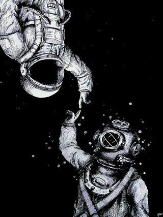 Обои на телефон космонавт, темные, звезды, espacial