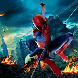Обои на телефон персонажи, человек паук, фильмы, удивительные, новый, машины, город