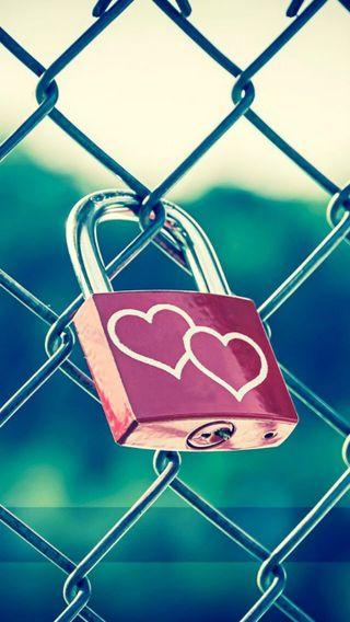 Обои на телефон сердце, любовь, padlock, love