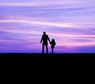 Обои на телефон отец, прогулка, любовь, love, daughter, dad and daughter