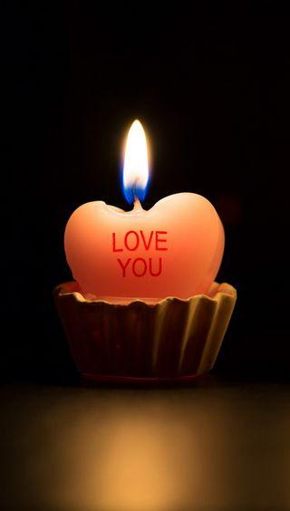 Обои на телефон ты, сердце, свеча, любовь