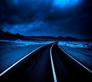 Обои на телефон хайвей, пустыня, приятные, природа, пейзаж, облака, ночь, новый, небо