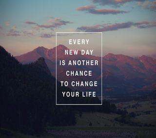 Обои на телефон шанс, новый, менять, жизнь, день, every