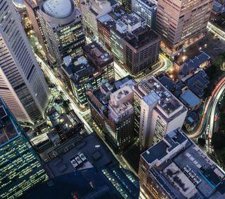 Обои на телефон топ, небоскребы, здания, город, вид, city skyscrapers