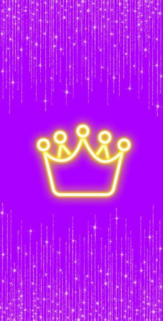 Обои на телефон корона, фиолетовые, неоновые, блестящие, fondo, brillos