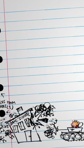 Обои на телефон рисунок, мультики, бум, notebook, note, calvin boom, calvin