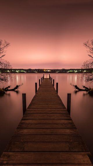 Обои на телефон пристань, пейзаж, мост, pont