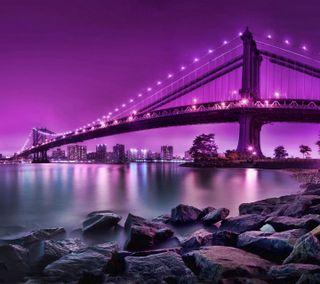 Обои на телефон сумерки, ночь, мост, night bridge