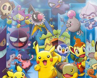Обои на телефон анимация, японские, покемоны, пикачу, аниме, japanese animation