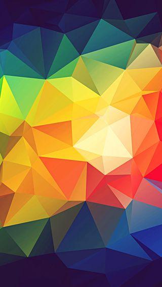 Обои на телефон формы, треугольник, радуга, прекрасные, красочные, абстрактные