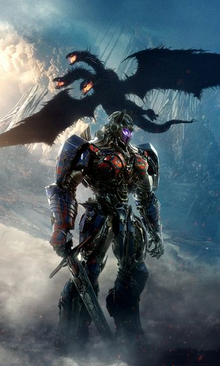 Обои на телефон рыцарь, фильмы, трансформеры, прайм, постер, оптимус, дракон, transformers last knight, transformers 5, dragon