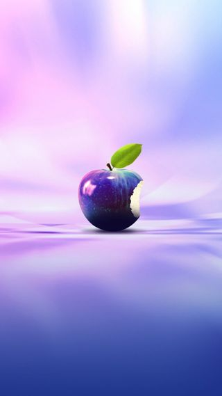 Обои на телефон фрукты, эпл, логотипы, apple, 3д, 3d