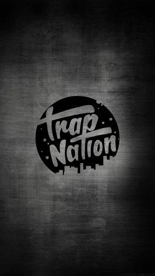 Обои на телефон trap logo, trap music, trap nation, trap nation gray, логотипы, музыка, серые, трэп, нация