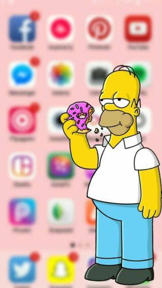 Обои на телефон экран, телефон, супер, симпсоны, размытые, good, blurred phone screen
