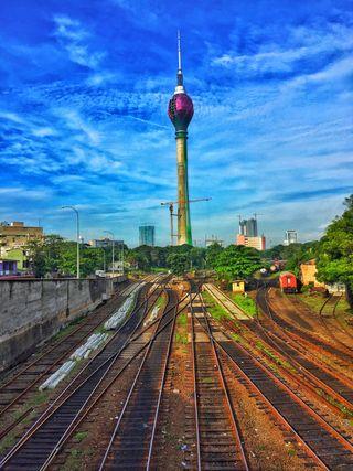 Обои на телефон фотография, удивительные, природа, поезда, лучшие, лотус, красота, железная дорога, городские, башня, lotus tower, hd, 4k