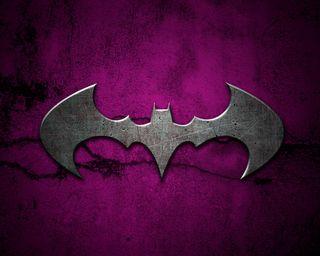 Обои на телефон стальные, фиолетовые, логотипы, бэтмен, logo purple steel, batman logo