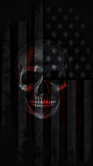 Обои на телефон американские, череп, флаг, american skull