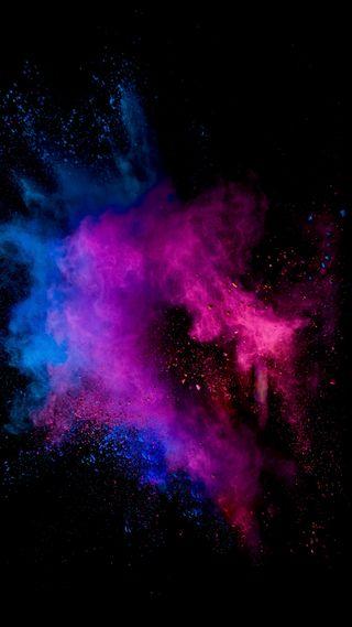 Обои на телефон цветные, фиолетовые, телефон, красые, космос, галактика, вселенная, взрыв, брызги, powder x, powder, galaxy
