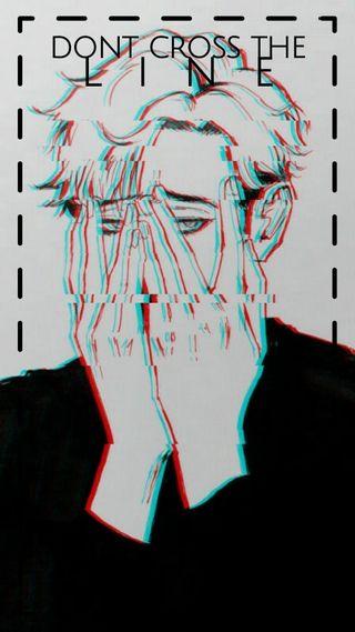 Обои на телефон эстетические, мальчик, грустные, аниме, vaperwave
