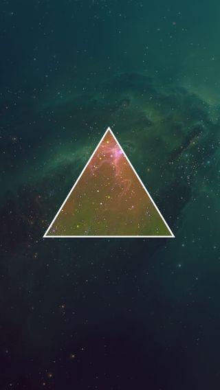 Обои на телефон треугольник, свет, линии