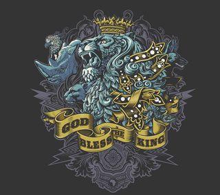 Обои на телефон иллюстрации, лев, король, животные, дизайн