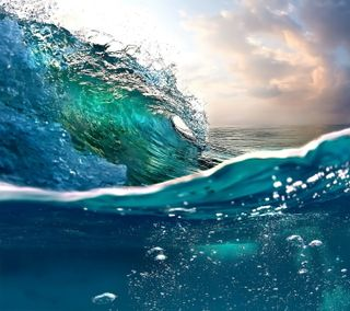 Обои на телефон волна, океан, вода