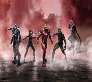 Обои на телефон черные, паук, машина, марвел, гражданская, война, war machine, spider man, marvel civil war, black panter