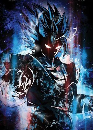 Обои на телефон сайян, синие, мяч, дракон, гоку, бог, аниме, goku ss blue