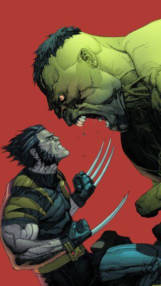 Обои на телефон росомаха, халк, против, марвел, красые, зеленые, wolverine vs hulk, marvel, darkdroid