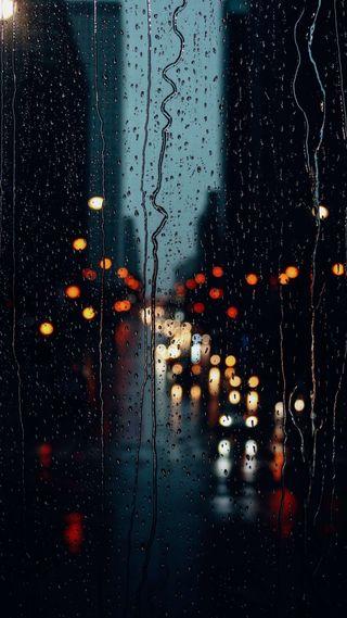 Обои на телефон эффекты, улица, окно, молния, дождь, день, город