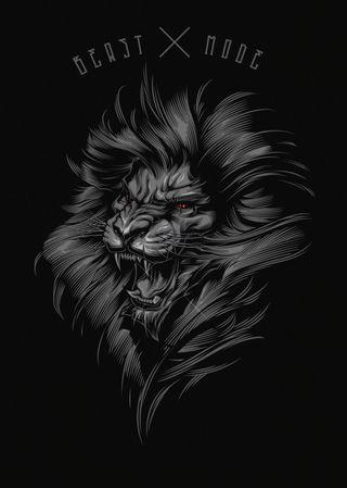Обои на телефон зверь, черные, лев, злые