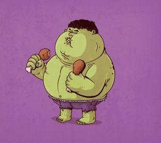 Обои на телефон халк, супергерои, иллюстрации, дизайн, hulk fat