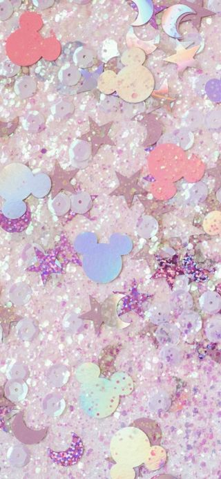 Обои на телефон пастельные, симпатичные, сверкающие, розовые, милые, дисней, девчачие, блестящие, disney