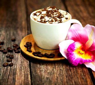 Обои на телефон шоколад, цветы, новый, кофе, дерево, hd, coffee bean, cappuccino