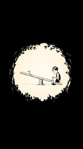 Обои на телефон одинокий, одиночество, мультфильмы, мальчик, грустные