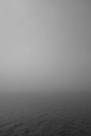 Обои на телефон черно белые, туманные, туман, простые, море, горизонт, вода, haze, foggy seas