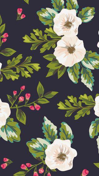 Обои на телефон цветочные, шаблон, цветы, винтаж