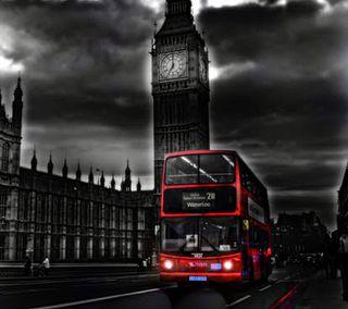 Обои на телефон лондон, автобус