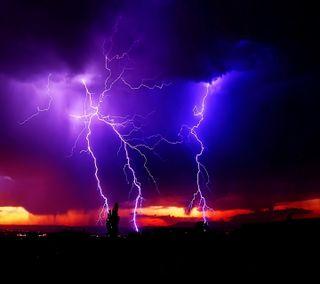 Обои на телефон молния, фиолетовые, магия, lightning magic