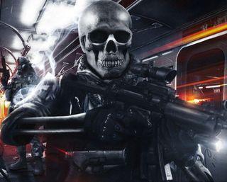 Обои на телефон battlefield, игра, череп, армия, оружие, смерть, видео