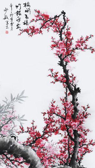 Обои на телефон картина, цветы