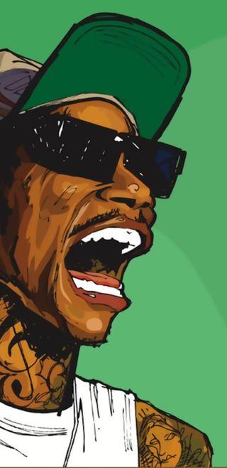 Обои на телефон черные, хоп, хип, рэпер, рэп, музыка, городские, wiz, khalifa