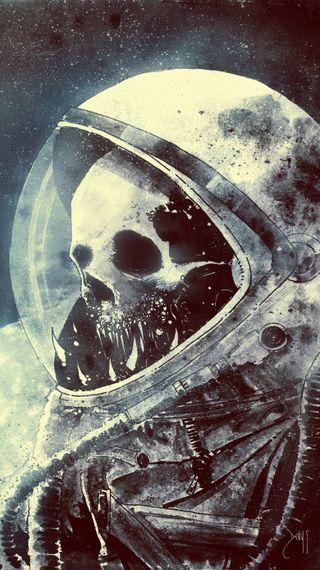 Обои на телефон космонавт, череп, крутые, космос, tragedy