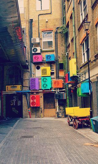 Обои на телефон коробка, цветные, арт, art