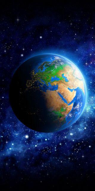 Обои на телефон наука, синие, планета, мир, космос, земля, звезды, европа, глобус