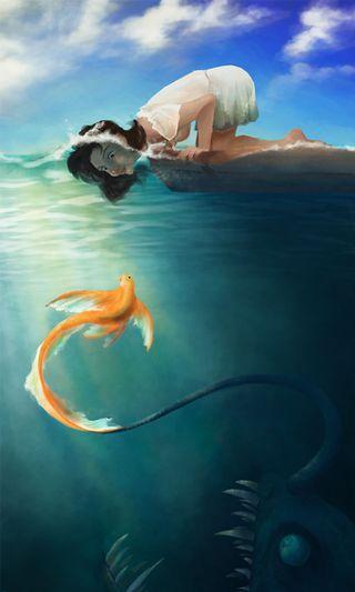 Обои на телефон трэп, рыба