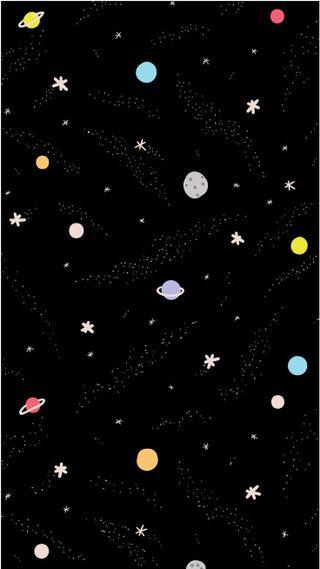 Обои на телефон планеты, симпатичные, милые, маленький, крошечный, космос, каваи, вселенная, little space