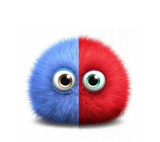 Обои на телефон микс, синие, милые, красые, puffy